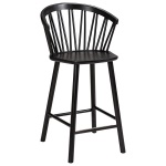 ZigZag bar armchair 63cm ash black
