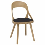 Colibri chair oak oiled, bonded leather black