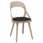 Colibri chair oak blonde, bonded leather black