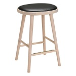 Colibri barstool 74cm oak blonde, bonded leather black