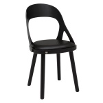 Colibri chair oak black, bonded leather black
