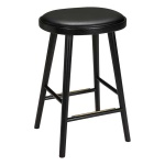 Colibri barstool 63cm oak black, bonded leather black