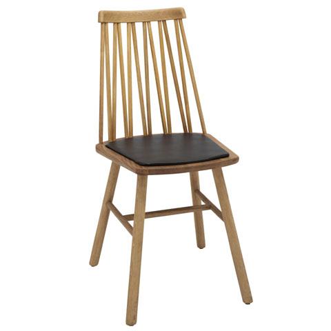 ZigZag dyna stol bonded läder svart